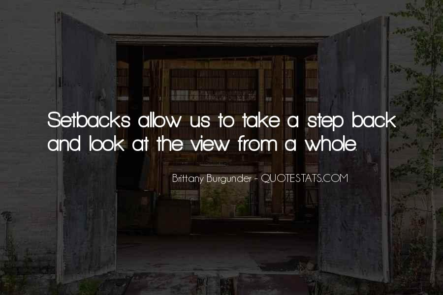 One Step Back Quotes #1549409