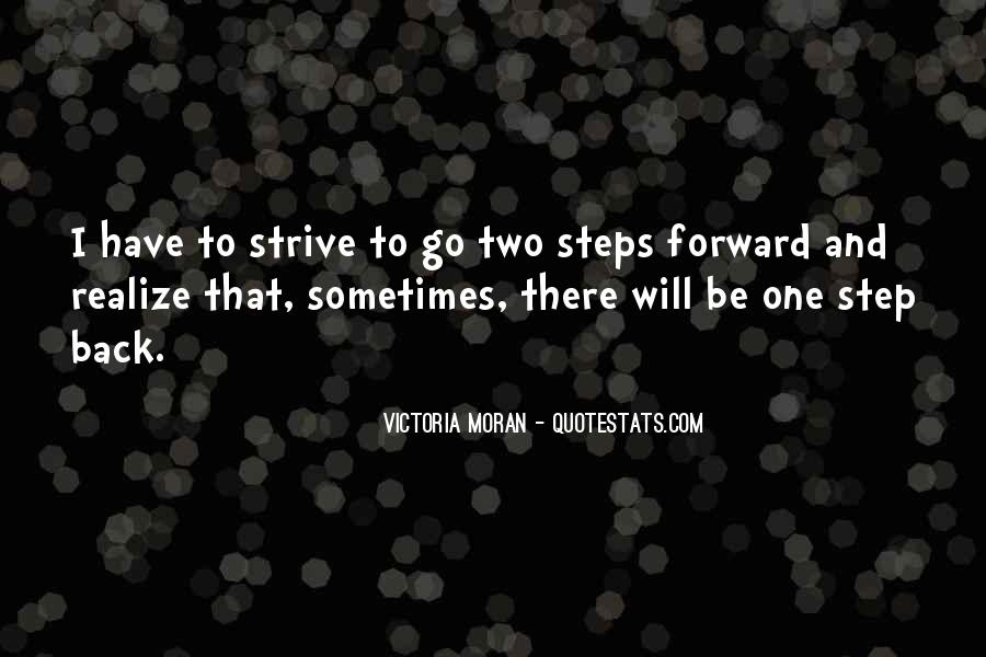 One Step Back Quotes #600817