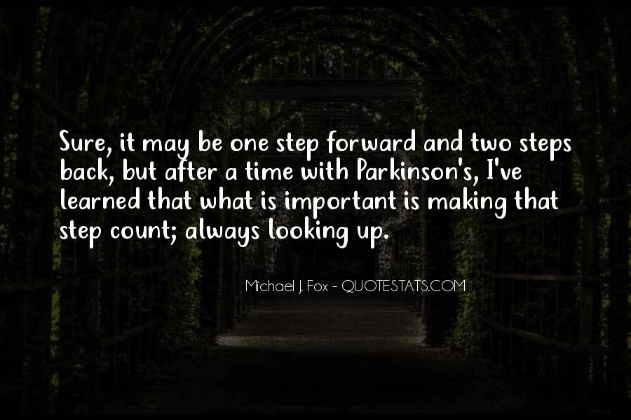 One Step Back Quotes #607899