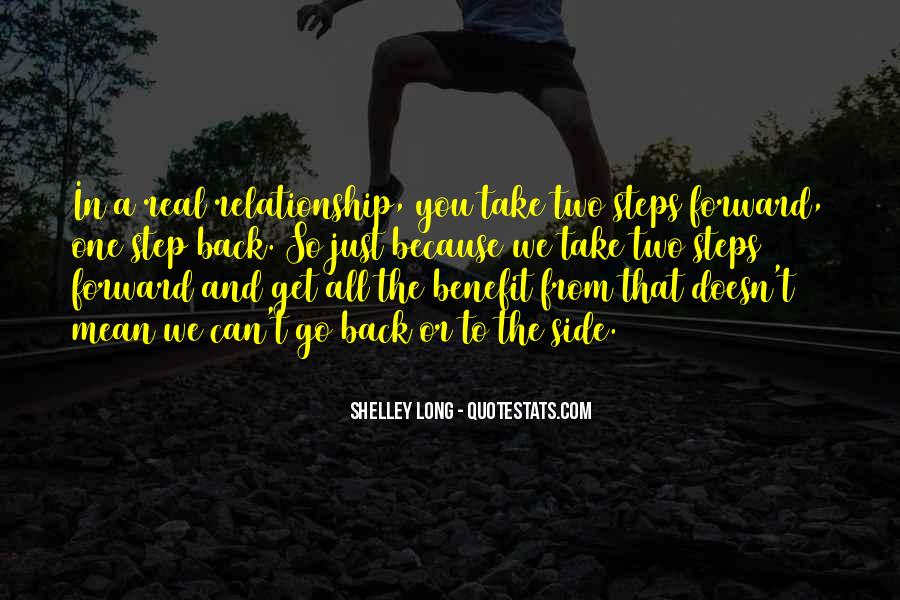 One Step Back Quotes #752564