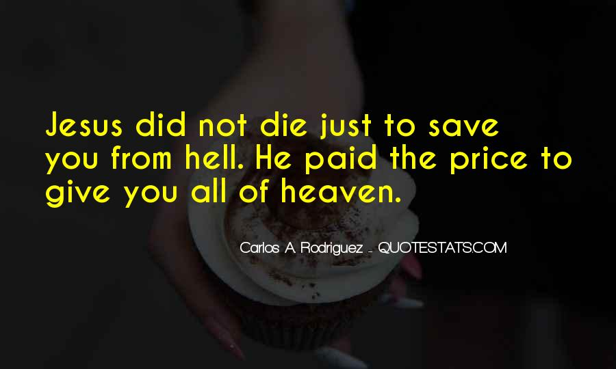 Only Jesus Can Save Quotes #22702