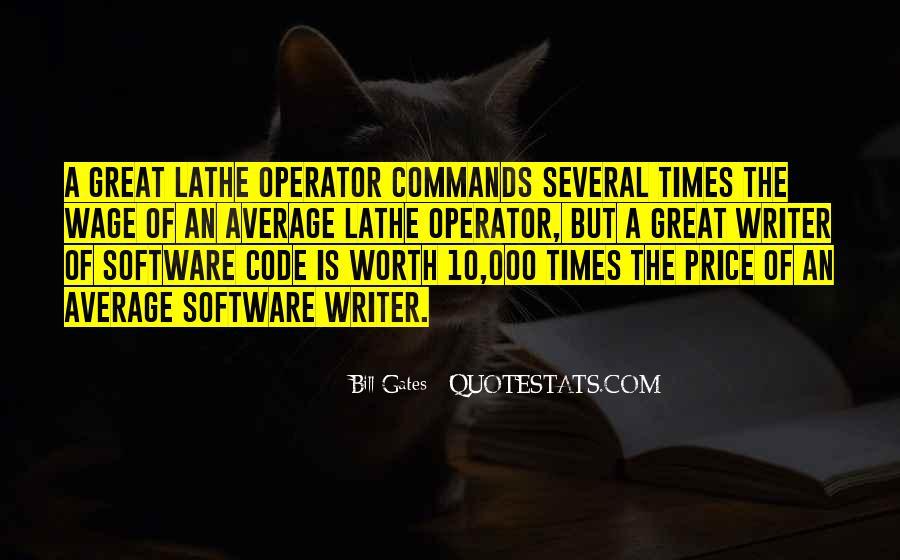 Operator Quotes #126384