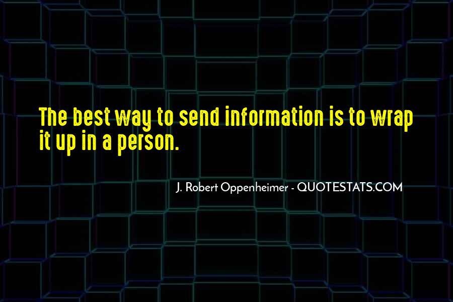 Oppenheimer Robert Quotes #1505003