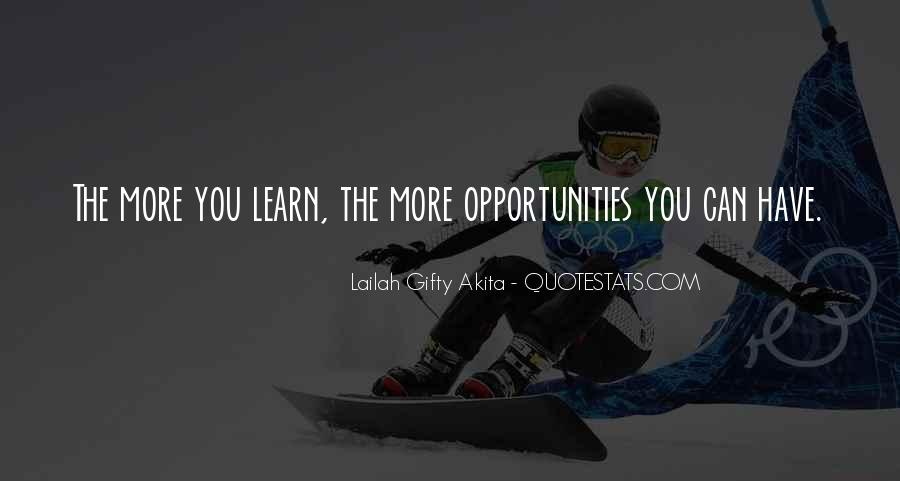 Opportunities And Possibilities Quotes #231868