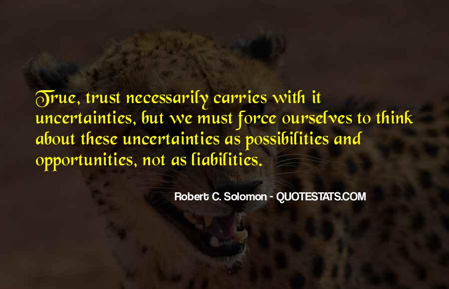 Opportunities And Possibilities Quotes #267501