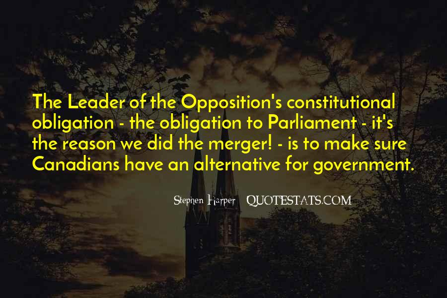 Opposition Leader Quotes #1623925