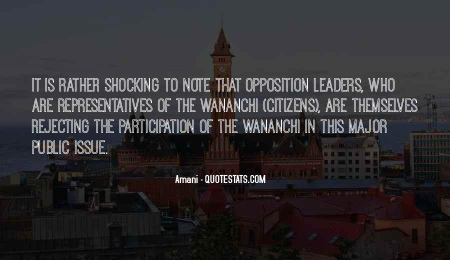 Opposition Leader Quotes #642080