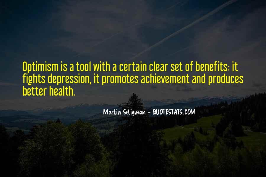 Optimism And Achievement Quotes #1544457