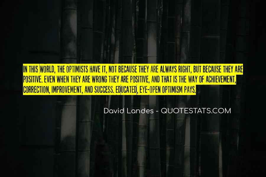 Optimism And Achievement Quotes #239609
