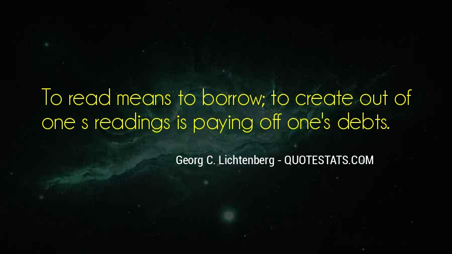 Quotes About Borrow #1780