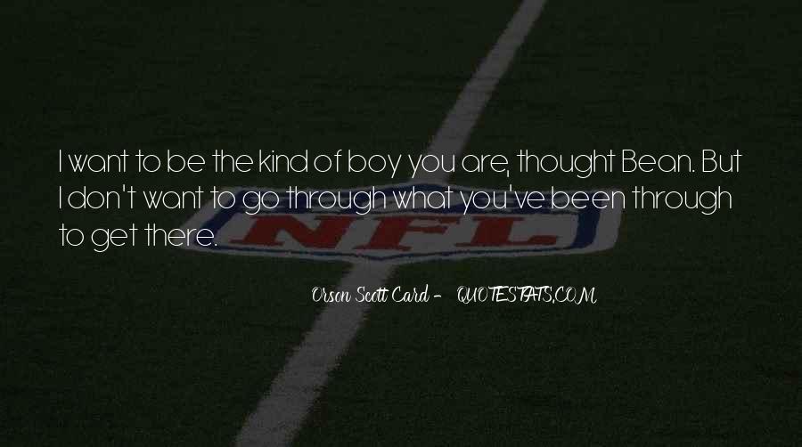 Orson Scott Card Bean Quotes #1266276