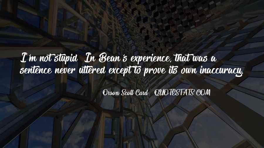 Orson Scott Card Bean Quotes #242946