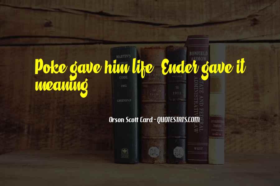 Orson Scott Card Bean Quotes #472847