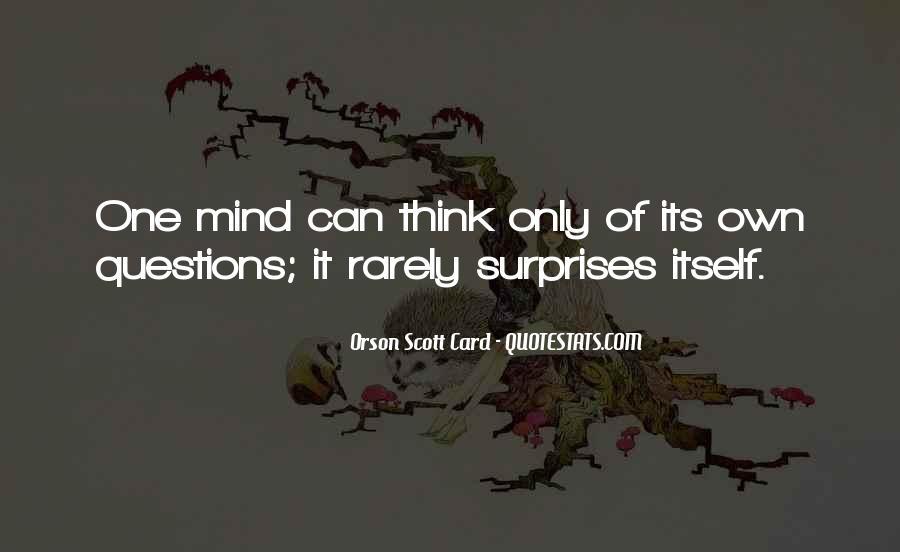 Orson Scott Card Bean Quotes #541350