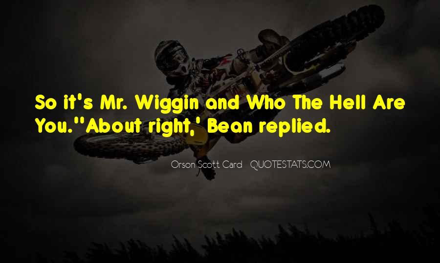 Orson Scott Card Bean Quotes #541709