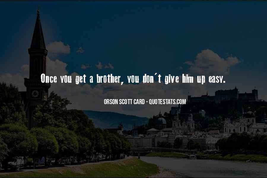 Orson Scott Card Bean Quotes #782910