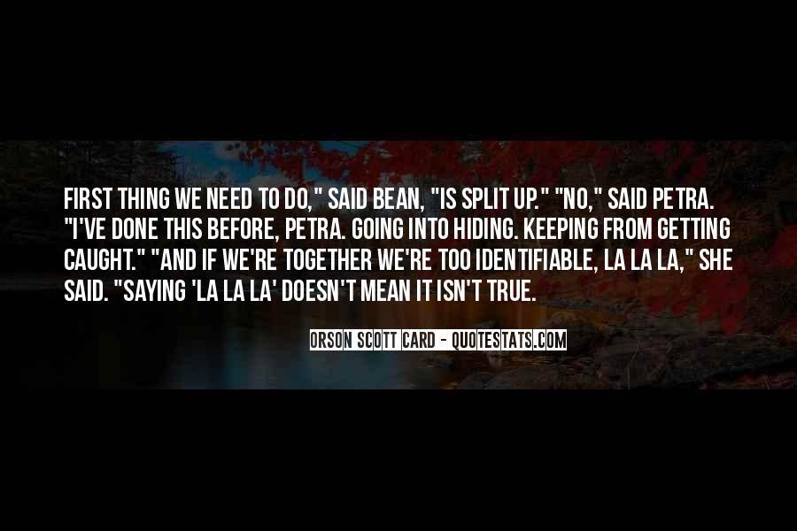 Orson Scott Card Bean Quotes #793108