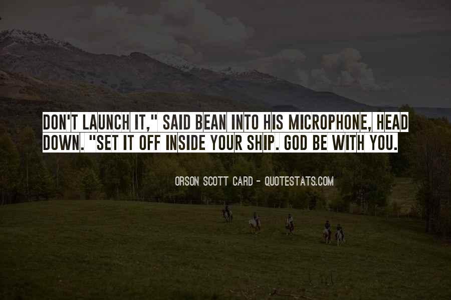 Orson Scott Card Bean Quotes #959346