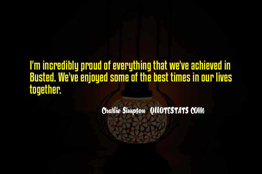 Our Lives Together Quotes #1119111
