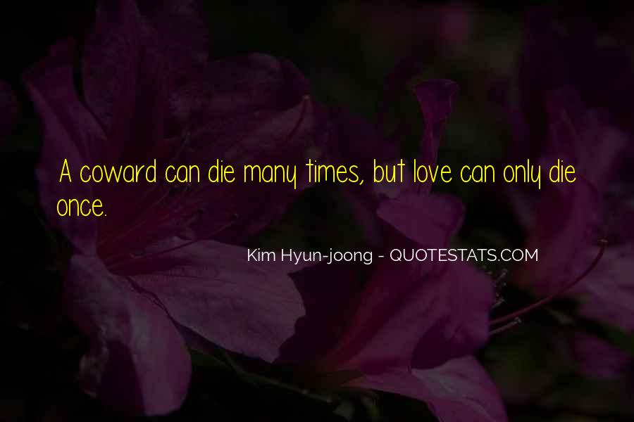 Our Love Dies Quotes #44135