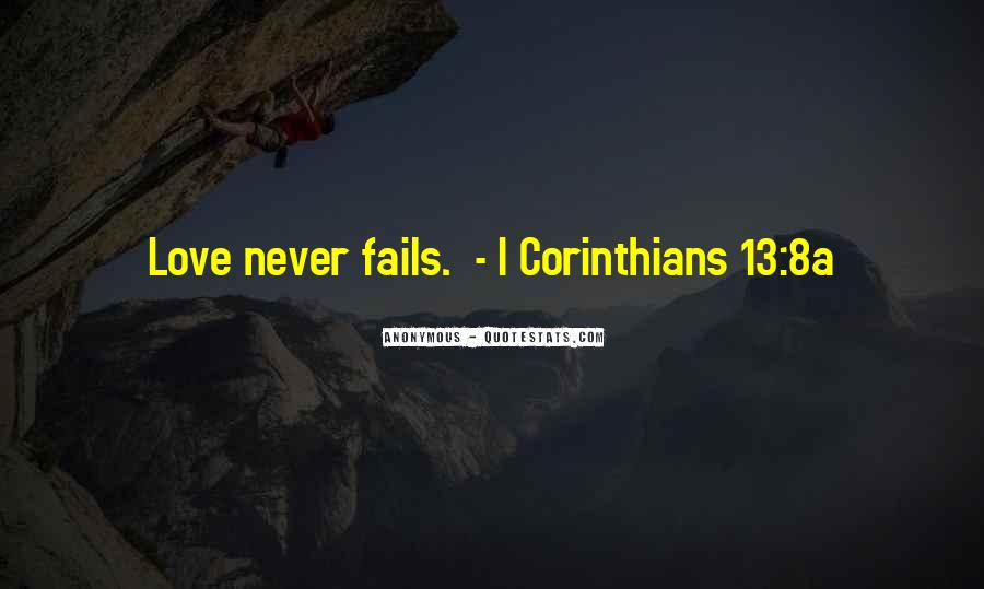 Our Love Never Fails Quotes #103435