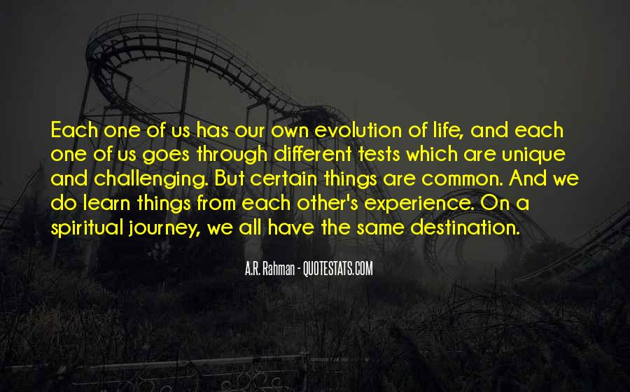 Our Own Journey Quotes #791857