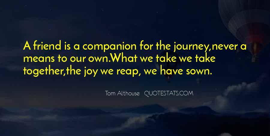 Our Own Journey Quotes #975647