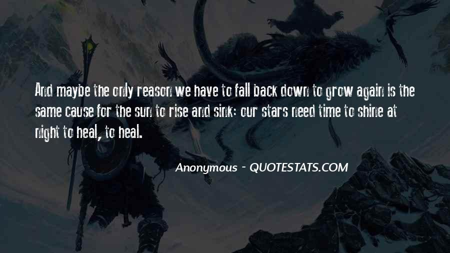 Our Time To Shine Quotes #1325811
