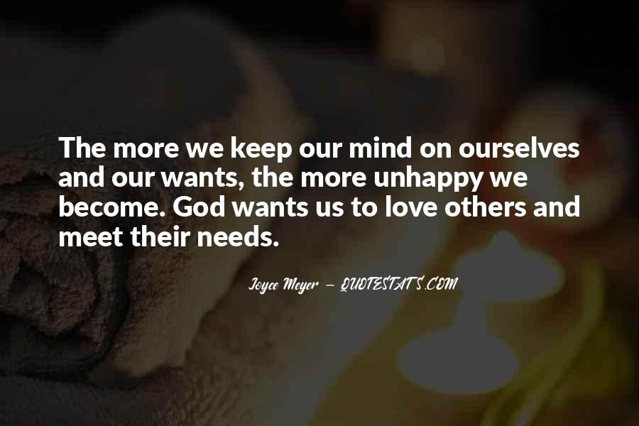 Our Wants Quotes #1134