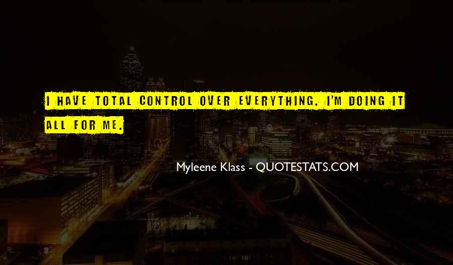 Over Control Quotes #106893