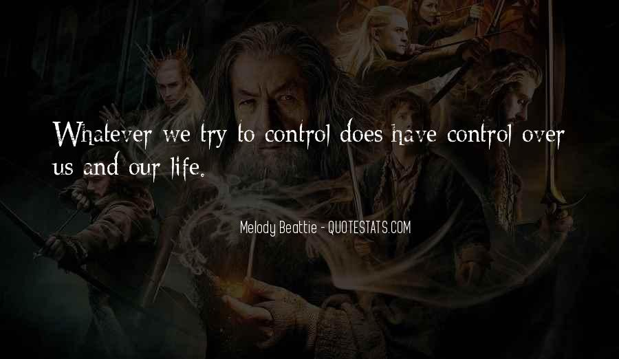Over Control Quotes #111368