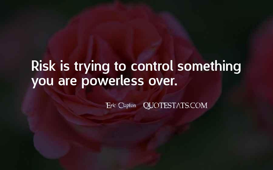 Over Control Quotes #85760