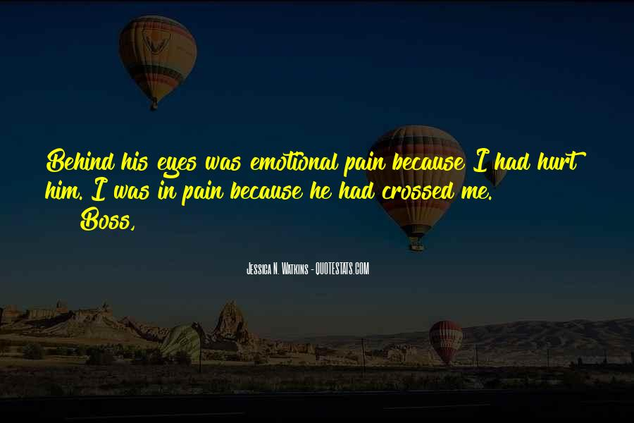 Pain In His Eyes Quotes #1000680