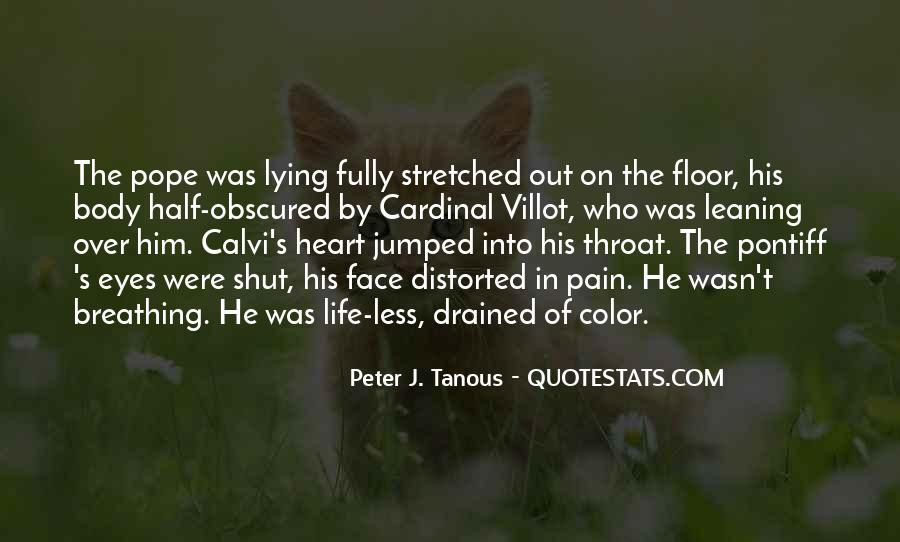 Pain In His Eyes Quotes #1180849