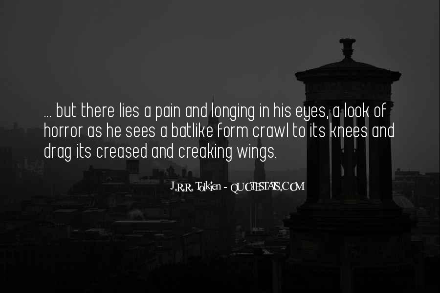 Pain In His Eyes Quotes #1248085