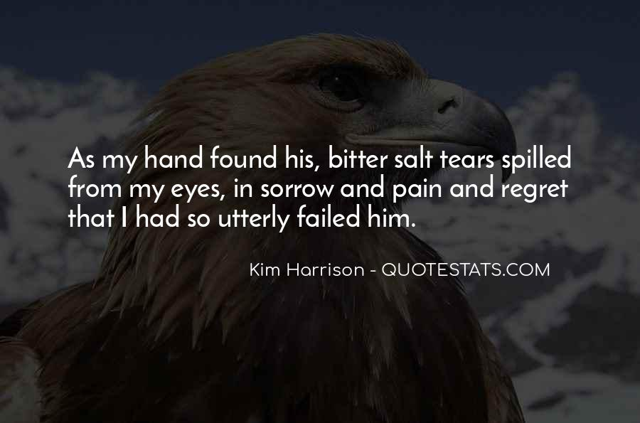 Pain In His Eyes Quotes #1304659