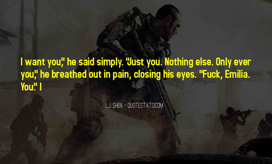 Pain In His Eyes Quotes #1541942
