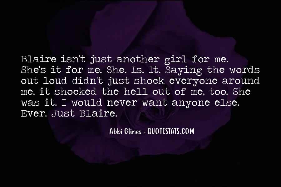 Quotes About Blaire #366106