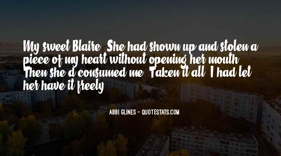 Quotes About Blaire #967826