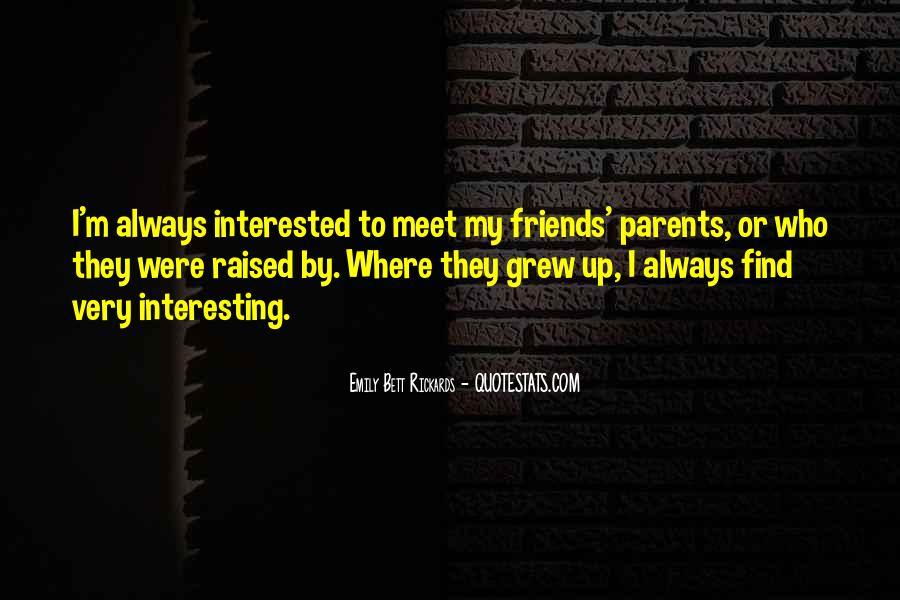 Parents Meet Quotes #31437