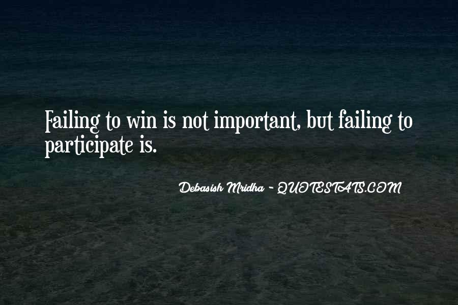 Participate And Win Quotes #168752
