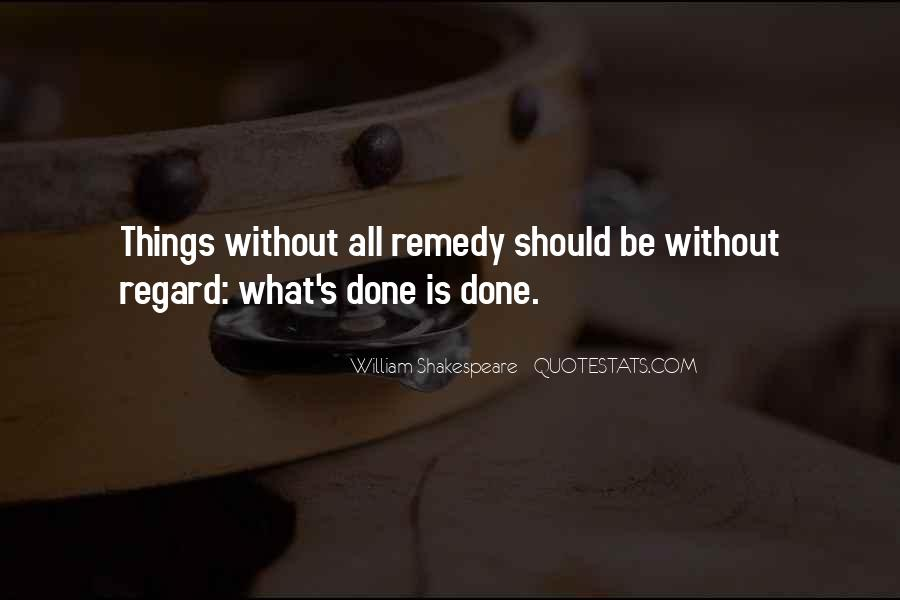 Past Is Done Quotes #1052202