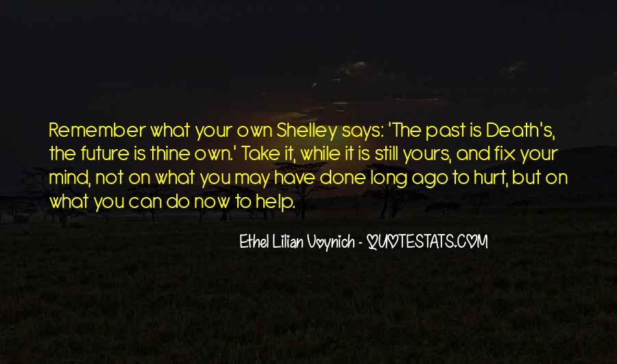 Past Is Done Quotes #691469