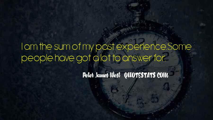 Past Life Experience Quotes #1366207