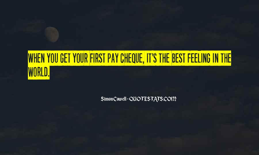 Pay Cheque Quotes #24782
