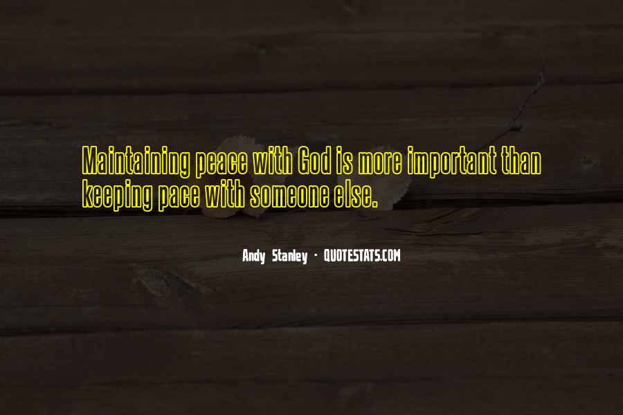 Peace Keeping Quotes #1308338