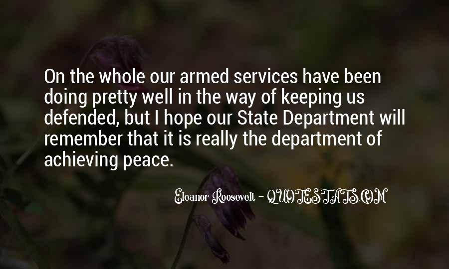 Peace Keeping Quotes #1323255