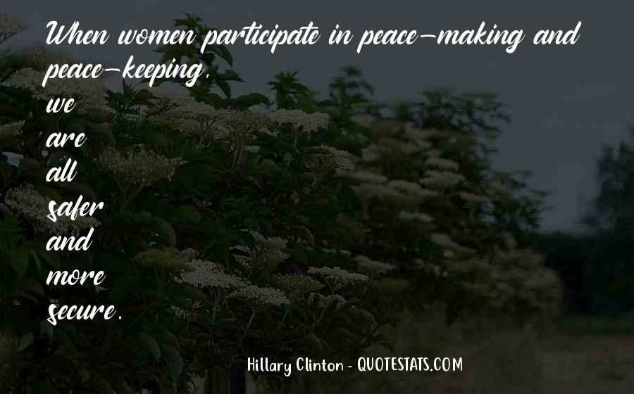 Peace Keeping Quotes #574445
