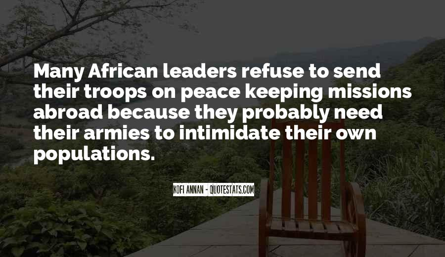 Peace Keeping Quotes #905923
