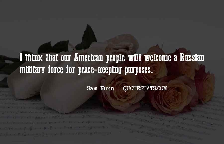 Peace Keeping Quotes #930777